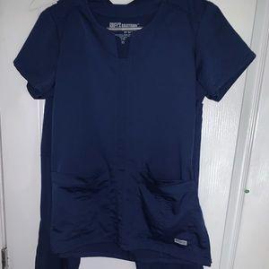 Women's Greys Anatomy Scrubs- Navy- Small